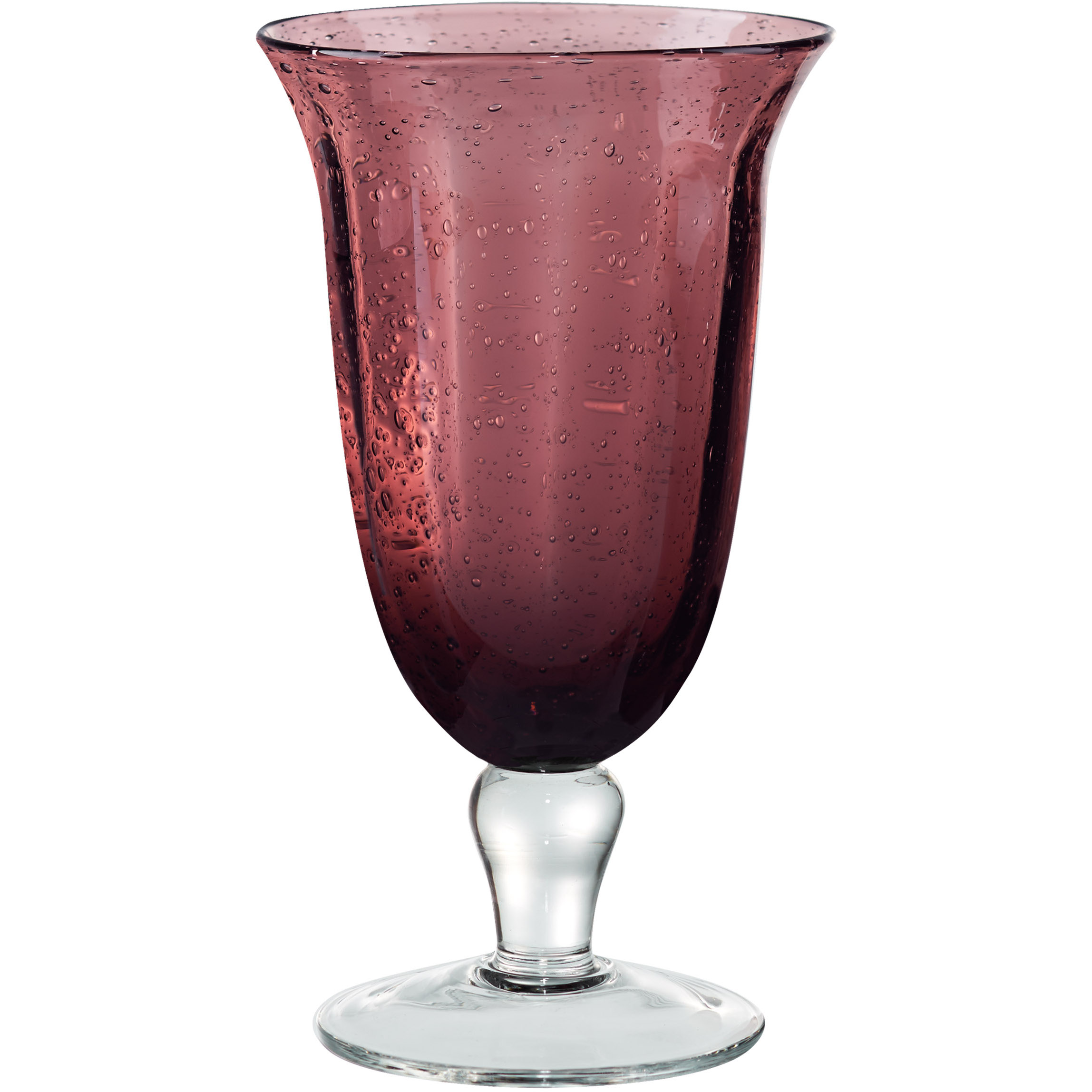 Artland Savannah Purple Bubble Glass Goblet, 14 Ounce
