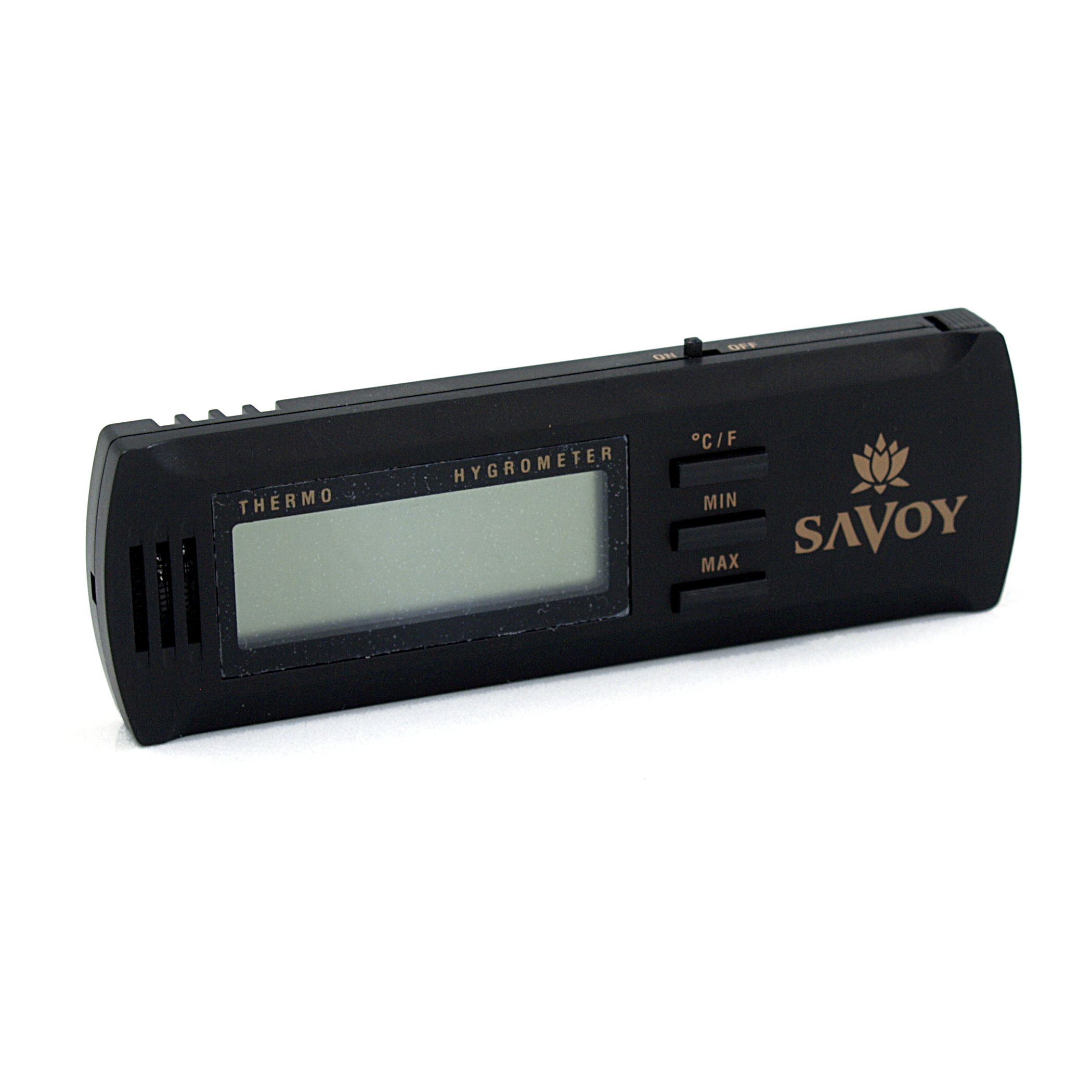 Savoy Black Digital Hygrometer